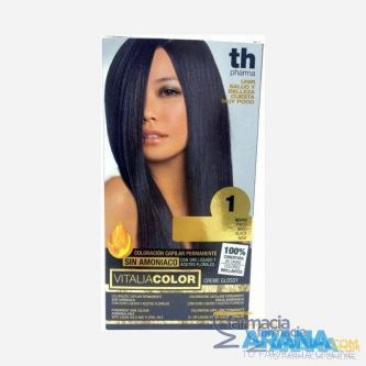Th Pharma Vitalia color 1 Negro Sin Amoniaco