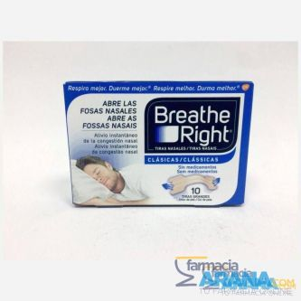 Breathe Right Tiras nasales 10 unidades T.G