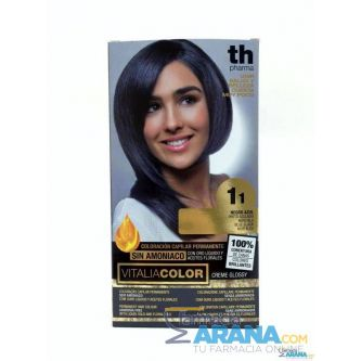 Th Pharma Vitalia color 1.1 Negro Azulado Sin Amoniaco
