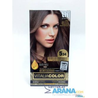Th Pharma Vitalia color 5.34 Castaño Claro Dorado Acobrado Sin Amoniaco