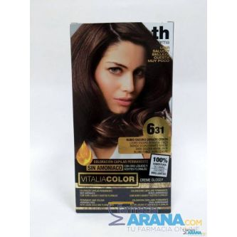 Th Pharma Vitalia color 6.31 Rubio Oscuro Dorado Ceniza Sin Amoniaco