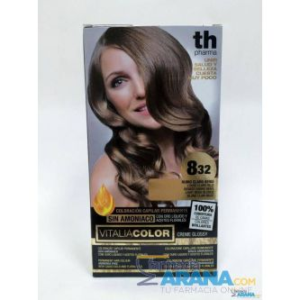 Th Pharma Vitalia color 8.32 Rubio Dorado Beige Sin Amoniaco