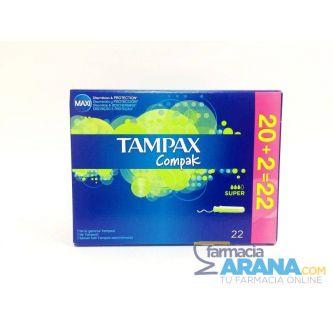 Tampax Compak Súper 20 unidades +2 GRATIS