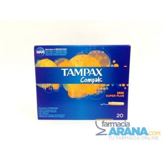 Tampax Compak Súper Plus 20 unidades