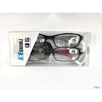 Gafas Pack 2 Twins Optical Silver Double