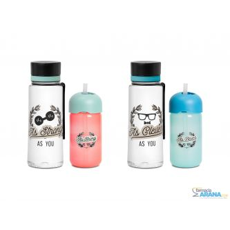 Suavinex YOU & ME Set Vaso con pajita + Botella AS YOU +18M