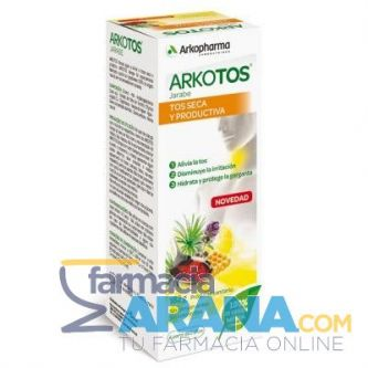 Arkotos Jarabe Tos Seca y Productiva Sabor Frutos Rojos 140ml