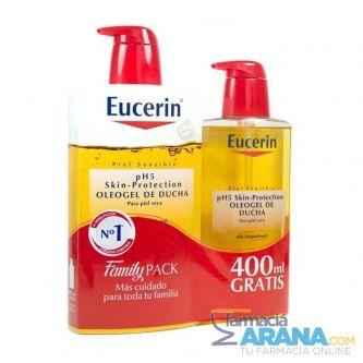 Eucerín Oleogel 1000ml + Family PACK 400ml GRATIS