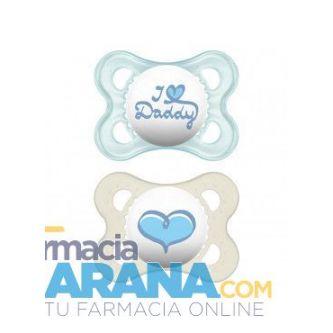 Chupete MAM Original Silicona 0-6 meses Daddy Azul