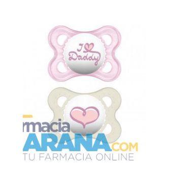 Chupete MAM Original Silicona 0-6 meses Daddy Rosa