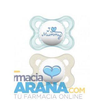 Chupete MAM Original Silicona 0-6 meses Mummy Azul