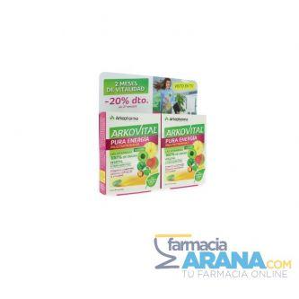 Arkovital Pura Energía MULTIVITAMINAS Pack 2x30 comp. -20% DESCUENTO 2º Envase