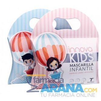 Mascarilla Infantil LAVABLE/ REUTILIZABLE Diseño 3D Innova Kids 2 unidades ROSA