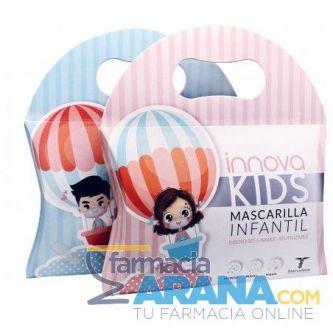 Mascarilla Infantil LAVABLE/ REUTILIZABLE Diseño 3D Innova Kids 2 unidades AZUL