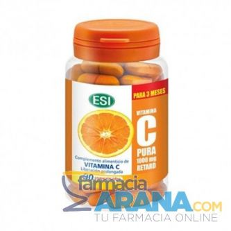 Vitamina C Pura 1000mg Retard ESI 90 comprimidos