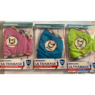 Mascarilla Infantil de Tela Con Filtro ULTRAMASK Lavable