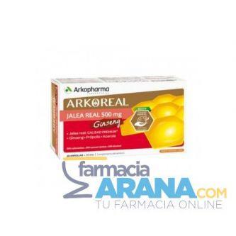 ArkoReal Jalea Real Fresca 500mg GINSENG Arkopharma 20 Ampollas 15ml