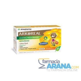 ArkoReal Jalea Real Fresca Premium INMUNIDAD BIO Arkopharma 20 Ampollas 15ml SIN AZÚCAR